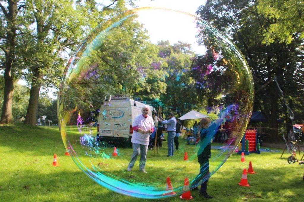 soap bubbles, large, human