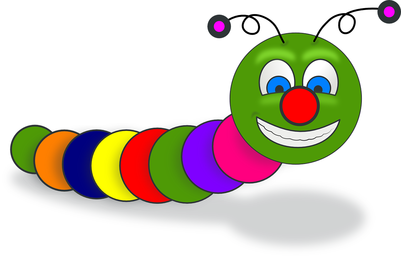 worm, book, smile
